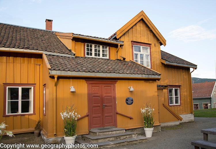 Skansen buildings former customs station, Tollboden,  oldest house in Tromso, Norway