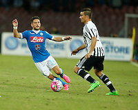 Napoli's Dries Mertens  during the  italian serie a soccer match,    at  the San  Paolo   stadium in Naples  Italy , September 26 , 2015
