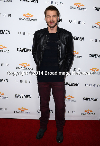 Pictured: Chad Michael Murray<br /> Mandatory Credit: Luiz Martinez / Broadimage<br /> CAVEMAN Los Angeles Premiere<br /> <br /> 2/5/14, Hollywood, California, United States of America<br /> Reference: 020514_LMLA_BDG_064<br /> <br /> sales@broadimage.com<br /> Bus: (310) 301-1027<br /> Fax: (646) 827-9134<br /> http://www.broadimage.com