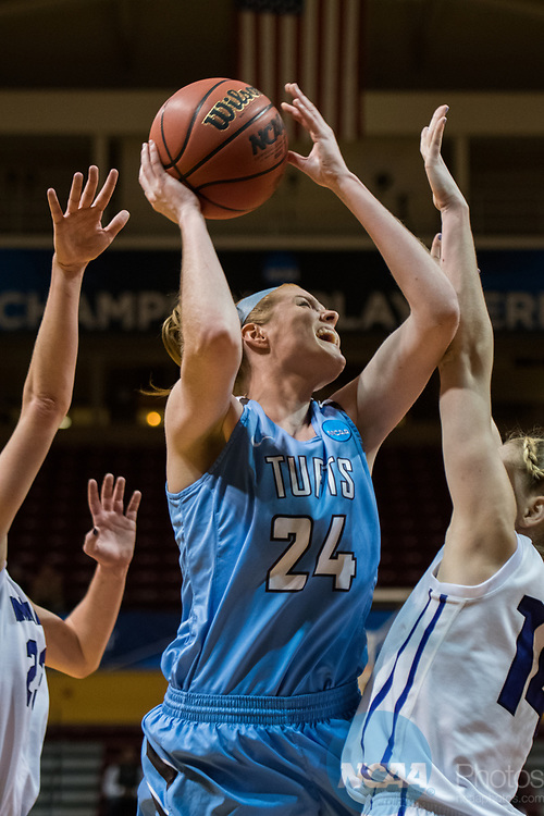 GRAND RAPIDS, MI - MARCH 18: Michela North (24) of Tufts University goes in for a basket during the Division III Women's Basketball Championship held at Van Noord Arena on March 18, 2017 in Grand Rapids, Michigan. Amherst College defeated Tufts University 52-29 for the national title. (Photo by Brady Kenniston/NCAA Photos via Getty Images)