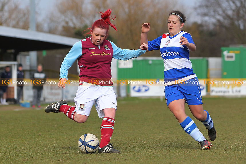 West Ham United Ladies vs Reading Women - FA Womens Premier League Southern Division Football at Ship Lane, Thurrock FC - 31/03/13 - MANDATORY CREDIT: Gavin Ellis/TGSPHOTO - Self billing applies where appropriate - 0845 094 6026 - contact@tgsphoto.co.uk - NO UNPAID USE.