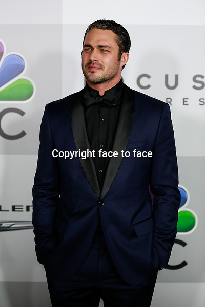 BEVERLY HILLS, CA - JANUARY 12: Taylor Kinney arrives at the 71st Golden Globe Awards: Universal, NBC, Focus Features, E! sponsored by Chrysler viewing and after party held at The Beverly Hilton Hotel in Beverly Hills, CA on January, 12, 2014.<br />