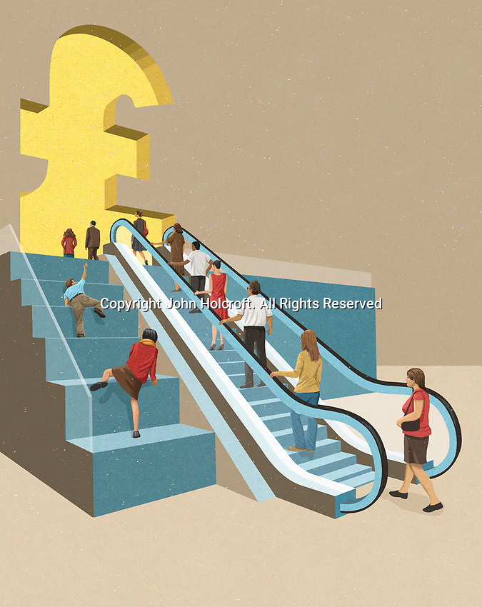 Contrast between people with easy and difficult access to money