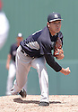 Masahiro Tanaka (Yankees),<br /> MARCH 31, 2015 - MLB :<br /> Masahiro Tanaka of the New York Yankees pitches during a spring training baseball game against the Minnesota Twins at CenturyLink Sports Complex in Fort Myers, Florida, United States. (Photo by AFLO)