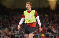 Wales' Rhys Patchell during the pre match warm up<br /> <br /> Photographer Ian Cook/CameraSport<br /> <br /> Under Armour Series Autumn Internationals - Wales v Tonga - Saturday 17th November 2018 - Principality Stadium - Cardiff<br /> <br /> World Copyright © 2018 CameraSport. All rights reserved. 43 Linden Ave. Countesthorpe. Leicester. England. LE8 5PG - Tel: +44 (0) 116 277 4147 - admin@camerasport.com - www.camerasport.com