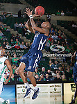 Jackson State Tigers guard Jenirro Bush (1) in action during the game between the Jackson State Tigers and the University of North Texas Mean Green at the North Texas Coliseum,the Super Pit, in Denton, Texas. UNT defeated Jackson State 69 to 55...