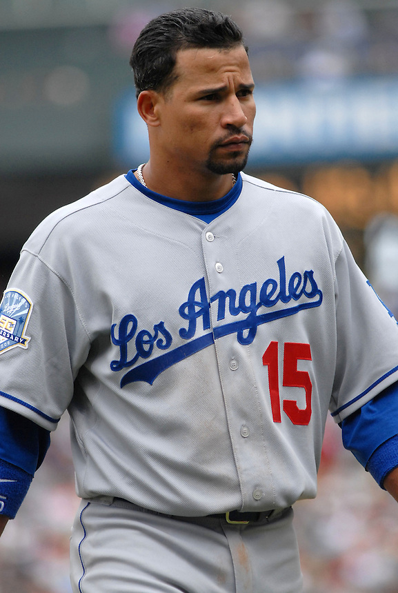 Los Angeles Dodgers shortstop Rafael Furcal during a Game against the Colorado Rockies at Coors Field in Denver, CO on May 4, 2008.