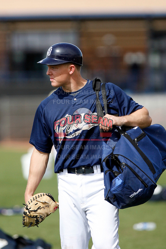 Nick Hundley - San Diego Padres - 2009 spring training.Photo by:  Bill Mitchell/Four Seam Images