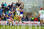 Paul Galvin Lixnaw in action against James McCarthy Kilmoyley in the County Senior Hurling final at Austin Stack Park on Saturday.