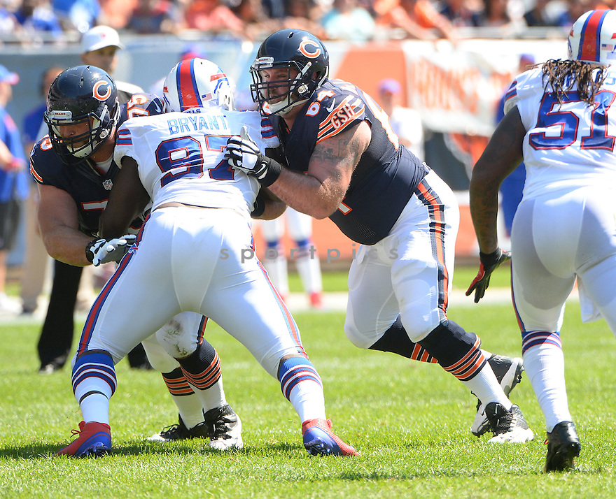 Chicago Bears Brian De La Puente (64) during a game against the Buffalo Bills on September 7, 2014 at Soldier Field in Chicago, IL. The Bills beat the Bears 23-20.