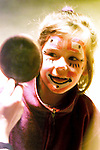 Louise Taylor from Grangebellew seems pleased with the results of her face painting at Tom Duffy's circus..Picture Paul Mohan Newsfile