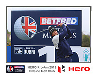 Dean Burmester (RSA) on the 10th tee during the Pro-Am of the Betfred British Masters 2019 at Hillside Golf Club, Southport, Lancashire, England. 08/05/19<br /> <br /> Picture: Thos Caffrey / Golffile<br /> <br /> All photos usage must carry mandatory copyright credit (&copy; Golffile | Thos Caffrey)