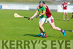 Lixnaws Coilin Sheehy trying to go forward but is well marshalled by Causeways Bryan Murphy in R2 of the Senior Hurling Championship in Austin Stack Park on Sunday.