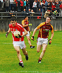 Playing Catch up,.Garrymore's ???? breaking through the Ballinrobe challenges during the U21 b County final...Pic Conor McKeowm.....