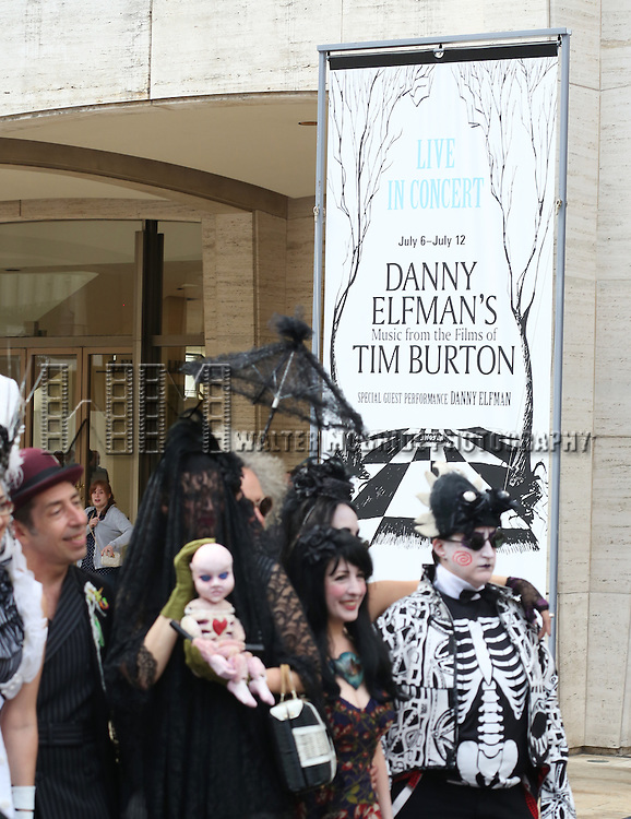 Guests attend the 'Danny Elfman's Music From The Films Of Tim Burton' - 2015 Lincoln Center Festival Opening Night at Josie Robertson Plaza at Lincoln Center on July 6, 2015 in New York City.