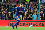 Gerard Pique Bernabeu of FC Barcelona in action during the La Liga 2017-18 match between FC Barcelona and SD Eibar at Camp Nou on 19 September 2017 in Barcelona, Spain. Photo by Vicens Gimenez / Power Sport Images