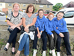 Paula Reid, Debbie and Rachel Emerson, Lauren Reid and Anna Freeman pictured at the Ardee festival. Photo:Colin Bell/pressphotos.ie