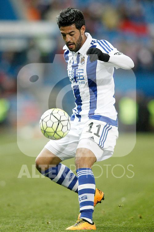 Real Sociedad's Carlos Vela during La Liga match. March 1,2016. (ALTERPHOTOS/Acero)