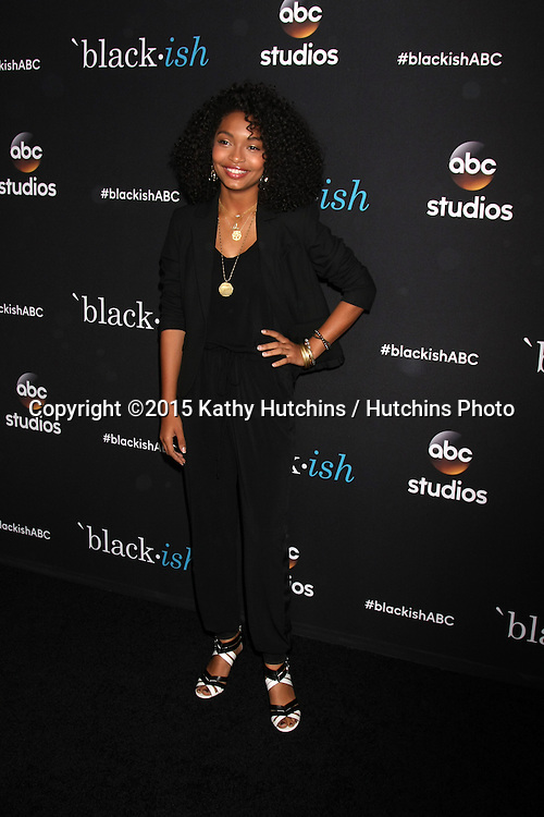 "LOS ANGELES - FEB 17:  Yara Shahidi at the ""Black-ish"" ATAS event at the Silver Screen Theater at Pacific Design Center on April 17, 2015 in Los Angeles, CA"