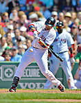 10 June 2012: Boston Red Sox first baseman Adrian Gonzalez in action against the Washington Nationals at Fenway Park in Boston, MA. The Nationals defeated the Red Sox 4-3 to sweep their 3-game interleague series. Mandatory Credit: Ed Wolfstein Photo