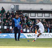 17th November 2019; The Sportsground, Galway, Connacht, Ireland; European Rugby Champions Cup, Connacht versus Montpellier; Benoit Paillaugue scores a conversion for Montpellier to level the scores at 20-20 - Editorial Use