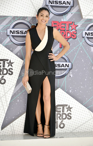 LOS ANGELES, CA - JUNE 26: Lela Loren at the 2016 BET Awards at the Microsoft Theater on June 26, 2016 in Los Angeles, California. Credit: Koi Sojer/MediaPunch