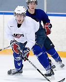 Brian Lashoff (USA - 18) - Team USA practiced at the Agriplace rink on Monday, December 28, 2009, in Saskatoon, Saskatchewan, during the 2010 World Juniors tournament.