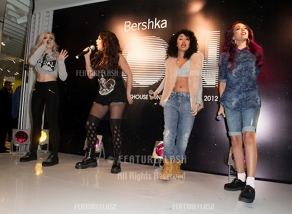 Little Mix at the Bershka Flagship Store Launch Party, Oxford Street, London. 14/11/2012 Picture by: Simon Burchell / Featureflash.