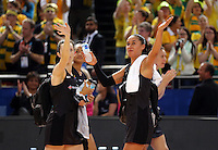 16.08.2015 Silver Ferns Maria Tutaia after the Silver Ferns v Australia Gold Medal netball match at the 2015 Netball World Cup at All Phones Arena in Sydney Australia. Mandatory Photo Credit ©Michael Bradley.