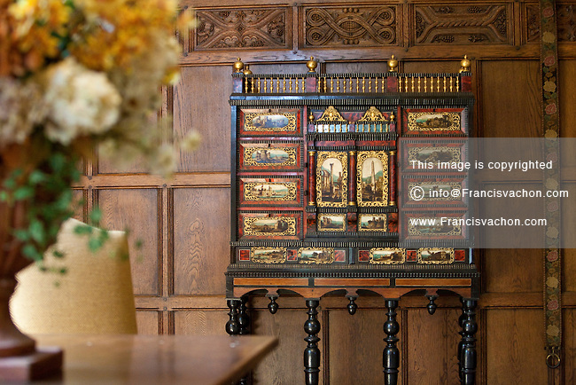 An old cabinet is is seen in the Tudor room of the Cummer Museum in Jacksonville, Florida Friday April 26, 2013. The Cummer Museum of Art and Gardens is a public museum that focuses on portraying European and American artistic paintings.