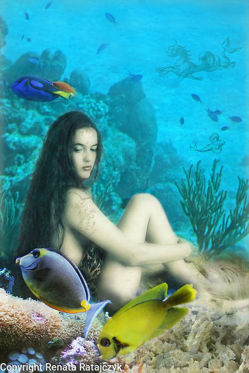 Fantasy Art - a Nymph in an Underwater World