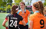 AMSTELVEEN  - Willemijn Bos (Gro) speelde haar laatste officiële hoofdklassewedstrijd. afscheid.   Hoofdklasse hockey dames ,competitie, dames, Amsterdam-Groningen (9-0) . )     COPYRIGHT KOEN SUYK