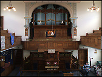 BNPS.co.uk (01202 558833)<br /> Pic: MarkHinchliffe/BNPS<br /> <br /> The interior of the chapel before the conversion.<br /> <br /> Take me to church...<br /> <br /> A seasoned property renovator has spent four years and hundreds of thousands transforming a Methodist chapel into a divine home - now on the market for &pound;1.5million.<br /> <br /> Mark Hinchliffe bought the Grade II listed church and the neighbouring Sunday school in Harrogate, Yorks, from the Methodist Council in 2013.<br /> <br /> He had to sell his own home and get a loan to buy the building and converted the Sunday school into a four-bedroom home first then sold it to fund work on the chapel, which would be his home.<br /> <br /> Mr Hinchliffe saved key features of the historic building in the heavenly conversion and even caught the eye of architect and TV presenter George Clarke, who featured the project on his Channel 4 show Restoration Man.