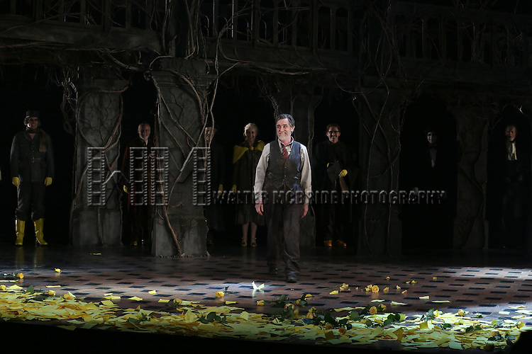 Roger Rees during the Broadway Opening Night Performance Curtain Call for 'The Visit'  at the Lyceum Theatre on April 23, 2015 in New York City.