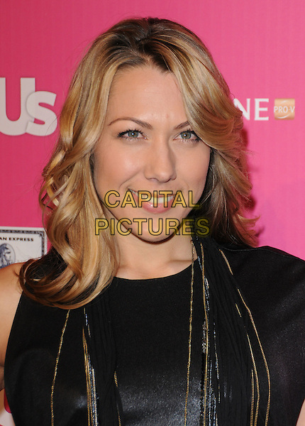 COLBIE CAILLAT.The Annual US Weekly Hot Hollywood Event held at The Colony in Hollywood, California, USA..November 18th, 2010.headshot portrait black sleeveless necklaces gold leather.CAP/RKE/DVS.©DVS/RockinExposures/Capital Pictures.