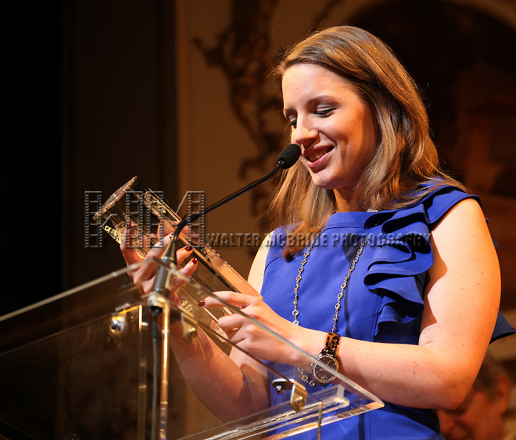 Jessie Mueller.during the 68th Annual Theatre World Awards at the Belasco Theatre  in New York City on June 5, 2012.