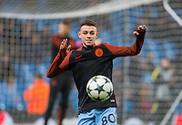 Phil Foden of Man City warms up before the UEFA Champions League GROUP match between Manchester City and Celtic at the Etihad Stadium, Manchester, England on 6 December 2016. Photo by Andy Rowland.