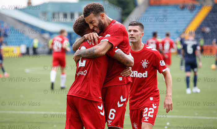 04.08.2019 Kilmarnock v Rangers: Connor Goldson at full time