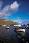 Fishing boats at anchor,Terasitas,Tenerife, Canary Islands, Spain