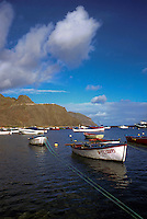 Fishing boats at anchor,Terasitas,Tenerife, Canary Islands, Spain
