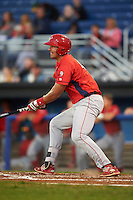 Williamsport Crosscutters first baseman Darick Hall (46) at bat during a game against the Batavia Muckdogs on September 2, 2016 at Dwyer Stadium in Batavia, New York.  Williamsport defeated Batavia 9-1. (Mike Janes/Four Seam Images)
