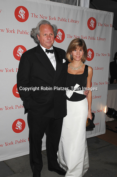 Graydon Carter and wife Anna Scott..arriving at The New York Public Library 2007 Library Lions Benefit on November 5, 2007. Martin Scorsese, Tom Stoppard Jhumpa Lahiri and John Hope Franklin were honored. ..Robin Platzer, Twin Images....212-935-0770