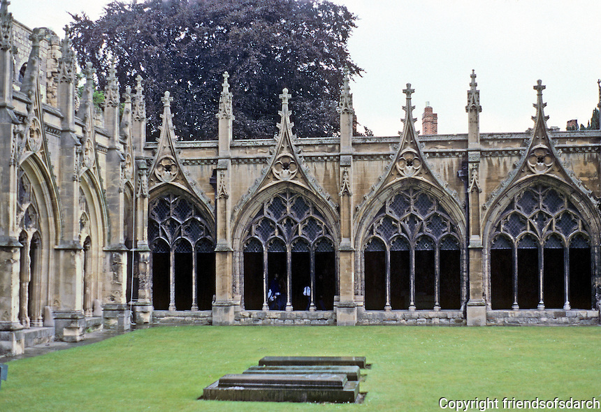 Canterbury: Canterbury Cathedral--Cloister.