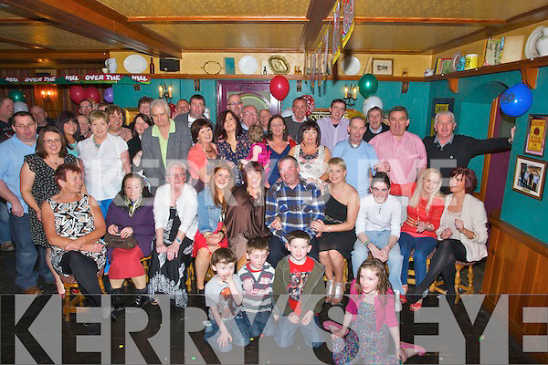 BIRTHDAY: Pat Keating Ballyheigue who celebrated his 60th Birthday in The White Sands Hotel, Ballyheigue on Saturday night with family and friends (Pat is seated 5th from right).....