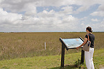Information boards explain the vast ecosystem of the Everglades to the visitor.