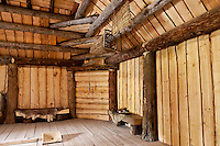 Interior of a Yupik men's lodge, Alaska Native Heritage Center, Anchorage, Alaska, USA