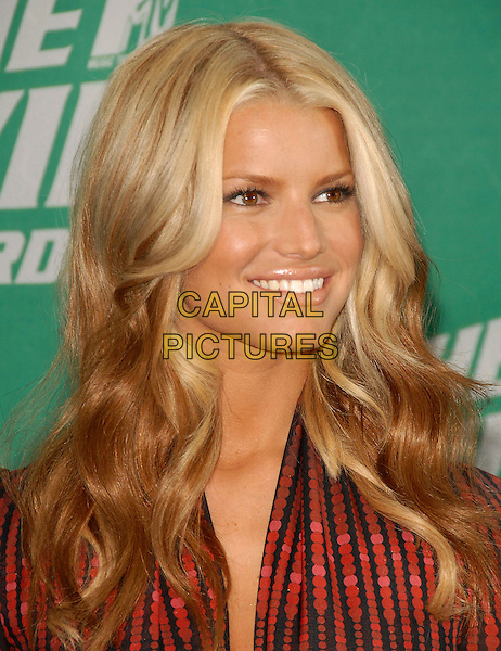 JESSICA SIMPSON.The 2006 MTV Movie Awards - Arrivals, held at The Sony Picture Studios in Culver City, Los Angeles, California, USA, June 3rd 2006..portrait headshot.Ref: DVS.www.capitalpictures.com.sales@capitalpictures.com.©Debbie VanStory/Capital Pictures