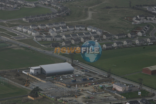 Aerial view of Rathmullen, Marleys Lane, Swimming Pool site, Sports Centre and Fire Station Site...Photo NEWSFILE/Fran Caffrey.(Photo credit should read Fran Caffrey/NEWSFILE)....This Picture has been sent you under the condtions enclosed by:.Newsfile Ltd..The Studio,.Millmount Abbey,.Drogheda,.Co Meath..Ireland..Tel: +353(0)41-9871240.Fax: +353(0)41-9871260.GSM: +353(0)86-2500958.email: pictures@newsfile.ie.www.newsfile.ie.FTP: 193.120.102.198...This picture is from Fran Caffrey@newsfile.ie