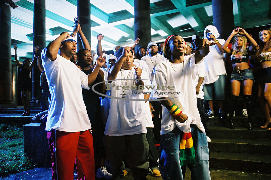 """Lil Wayne shooting """"Way of Life"""" video in New Orleans on April 14, 2002.  Photo credit:  Presswire News/Elgin Edmonds"""