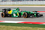 CHARLES PIC (20) driver of the Caterham F1 Team Renault in action during the Formula 1 United States Grand Prix practice session at the Circuit of the Americas race track in Austin,Texas.